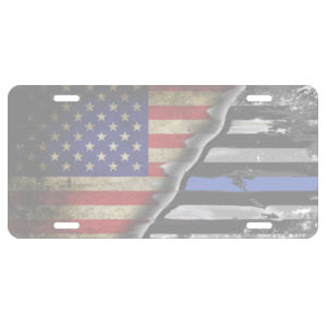 License Plate United States / Thin Blue Line Flag  Design