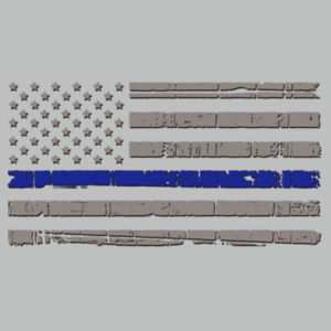 Men's Polo Thin Blue Line Flag Design
