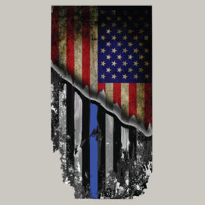 USA-Thin Blue Line Flag on Men's Soft Long Sleeve T-shirt  Design