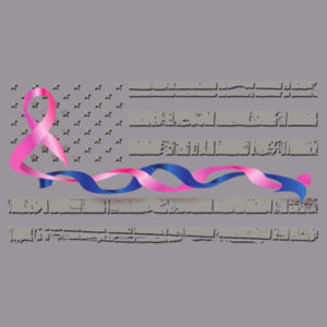 Blue-Pink Intertwined Ribbon with Soft Flag Design
