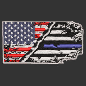 USA-Thin Blue line Flag Embroidery on Cap Design
