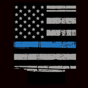 Thin Blue Line Flag Can Cooler Design