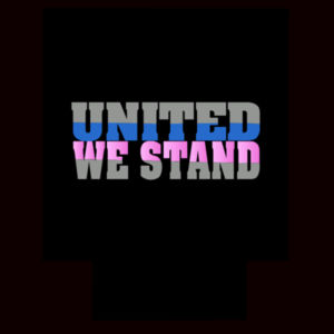 United We Stand Blue Pink Can Cooler Design