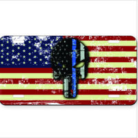 License Plate with American Flag with Spartan distressed  Thumbnail