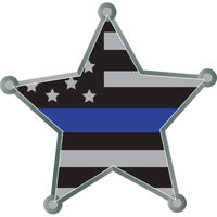 Star Blue Line Decal 2