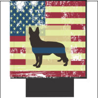 Can Cooler American Flag Blue Line Sheppard K9 Thumbnail