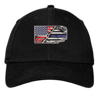 USA-Thin Blue line Flag Embroidery on Cap Thumbnail