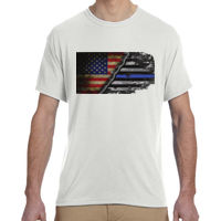 Men's USA-Thin Blue Line Flag on Soft T-Shirt Thumbnail