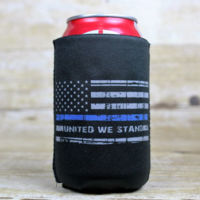 United We Stand Blue Line Can Cooler - Koozie Thumbnail
