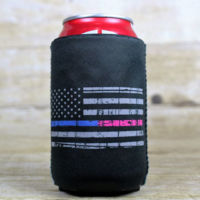 Blue-Pink Line Flag Can Cooler Thumbnail