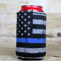 Thin Blue Line Flag Can Cooler Thumbnail