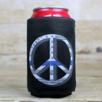 Peace Blue Line Can Cooler Thumbnail