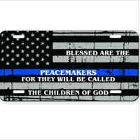 License plate Blessed are the Peacemakers Thumbnail